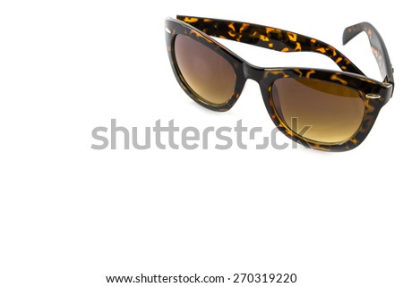 Sunglasses isolated in white background - stock photo