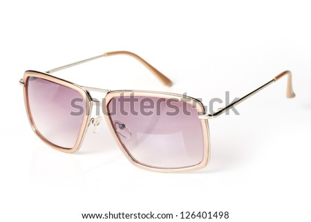 sunglasses isolated on the white background - stock photo