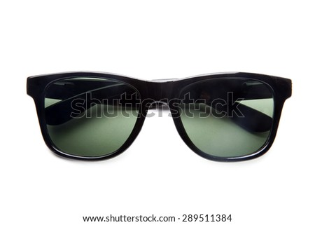 Sunglasses isolated on white background. - stock photo