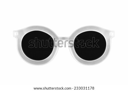 Sunglasses isolated on white background, Modern sunglasses.
