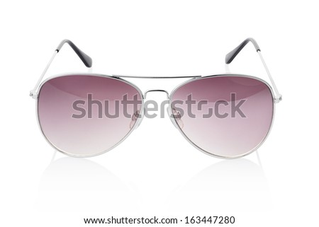 Sunglasses isolated on white, clipping path included - stock photo