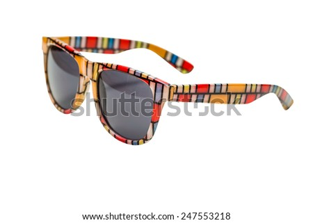 sunglasses isolated over the white background - stock photo