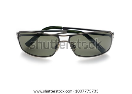 Sunglasses on white background with soft focus. Isolated
