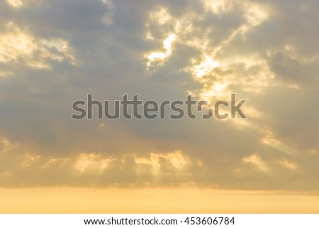 sunlight behind and through cloudy in the morning