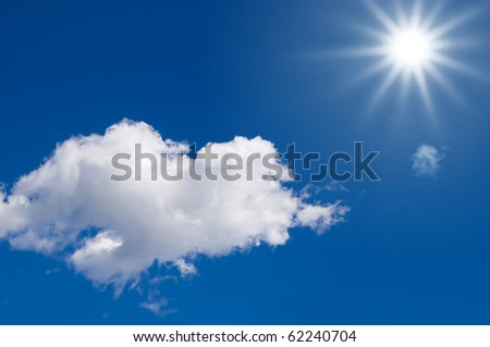 sunlight in a blue sky for Clean Energy - stock photo