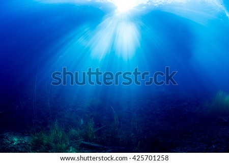 Sunlight into the water