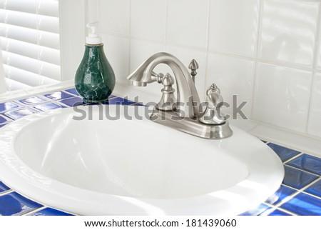 Sunny Bathroom Sink - stock photo