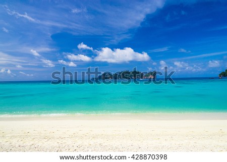 Sunny Beach Divine Coastline  - stock photo