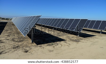 Sunny Central California is the scene of acres of solar panel arrays generating megawatts of clean electrical power.