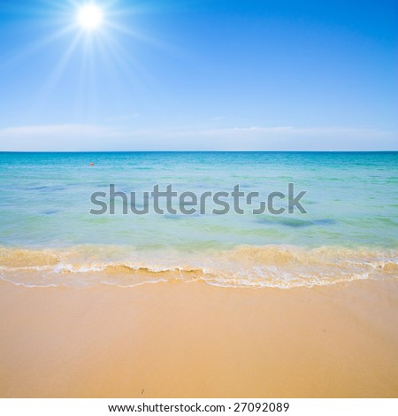 Sunny coast - stock photo
