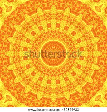 Sunny cover. Pattern from ornamental elements. Can be used for wallpaper, pattern fills, web page background,surface textures.