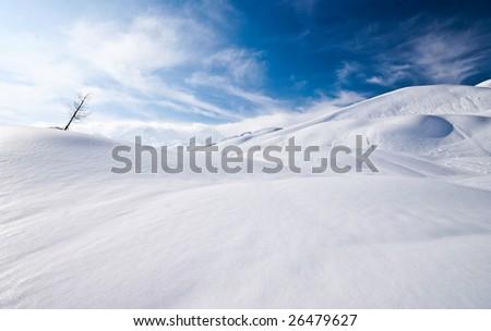 Sunny day in alps - stock photo