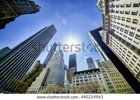 Sunny Day in Midtown Manhattan, New York