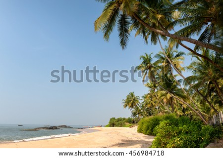 Sunny day on a beautiful tropical beach