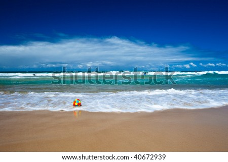 Sunny day on Surfers Paradise beach, Gold Coast, Queensland, Australia