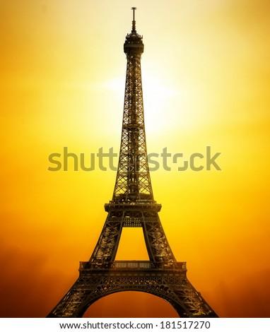 Sunny Eiffel Tower - stock photo