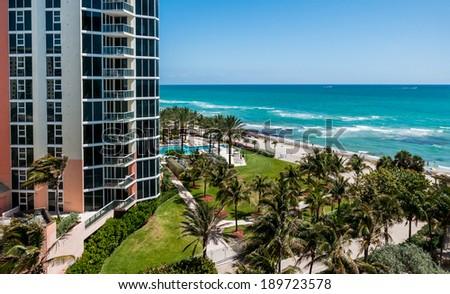Sunny Isles beach, Florida  - stock photo