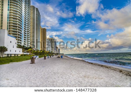Sunny Isles Beach in Miami, Florida - stock photo