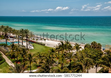 Sunny Isles Beach is a city located in Miami County, Florida - stock photo