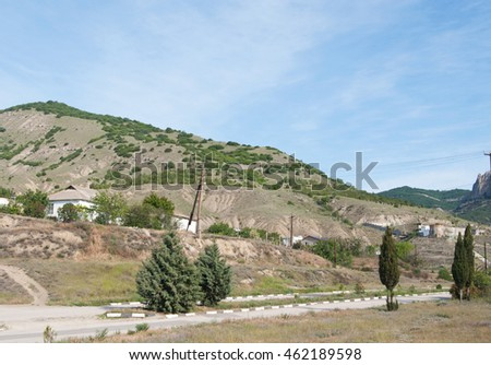 Sunny (Kozsky) valley, views of mountain Tokluk-Syrt, Crimea