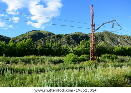 Sunny landscape - stock photo