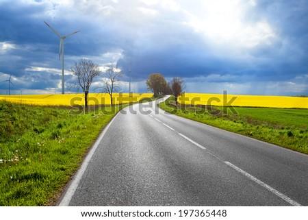 Sunny road - stock photo