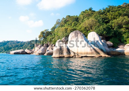 Sunny Rocks Big Stones  - stock photo