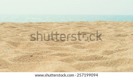 sunny sand beach - stock photo