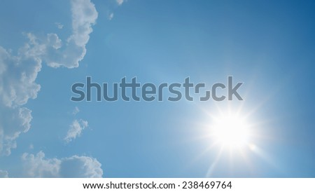 sunny skies, rays of  sun, a series of images