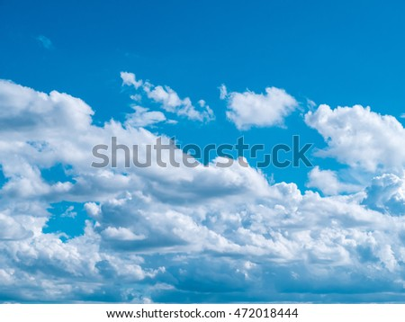 Sunny sky abstract background, beautiful cloudscape, on the heaven, The vast blue sky and clouds sky,