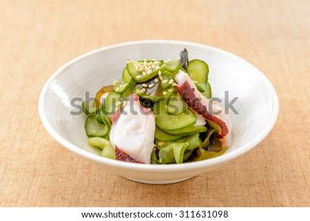 sunomono japanese food - stock photo