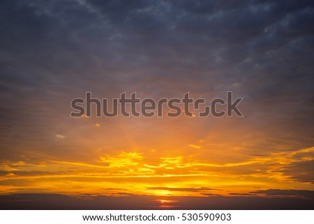 Sunrise abstract cloud