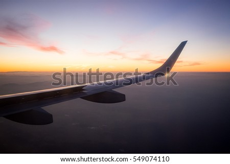 Sunrise as seen from a plane