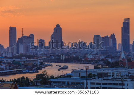 Sunrise at Bangkok City, Thailand