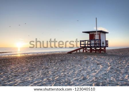 Sunrise at Cocoa Beach, Florida - stock photo