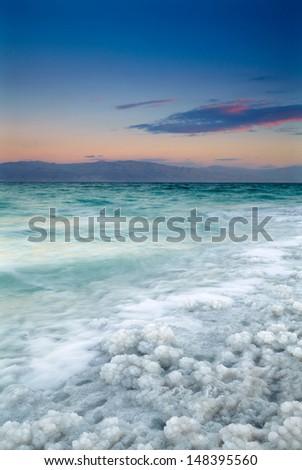 Sunrise at Dead Sea, Israel - stock photo