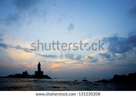Sunrise at Kanyakumari - stock photo