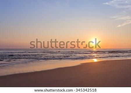 Sunrise at Ponta do Auro, Mozambique - stock photo