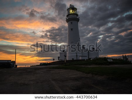 Sunrise at the Flamborough Head lighthouse