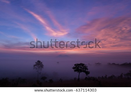 sunrise at Thung Salaeng Luang National Park, Phitsanulok, Thailand