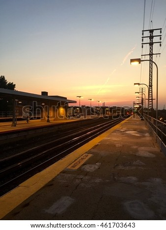 Sunrise at Train Station