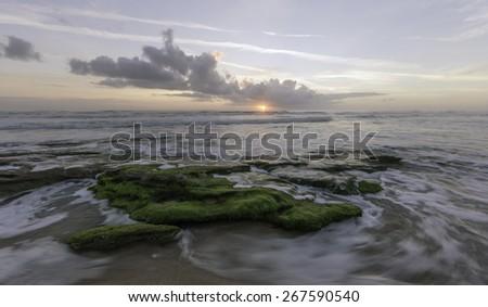 Sunrise at Washington Oaks in St Augustine, Florida - stock photo