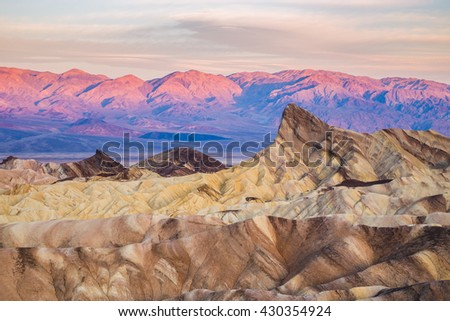 Sunrise at Zabriskie Point in Death Valley National Park, California, USA