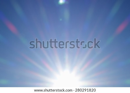 Sunrise. Blurred abstract background of  sky. - stock photo