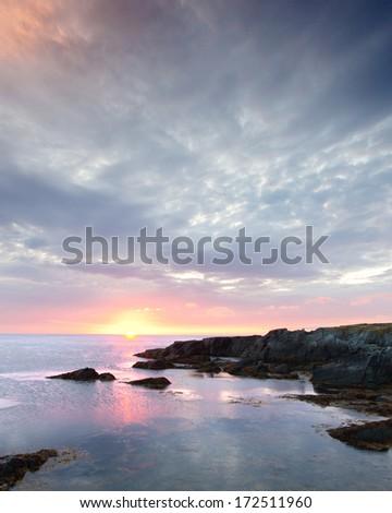 Sunrise, Brigus South, Newfoundland, Canada - stock photo