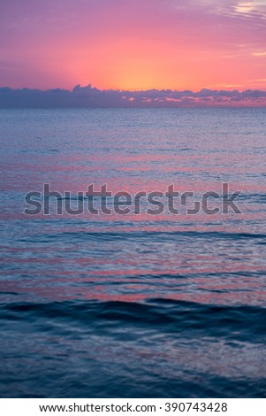 Sunrise by the pier at West Palm Beach, Florida - stock photo