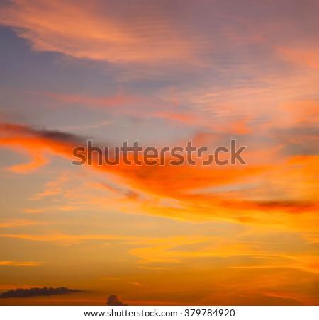 sunrise cloud and sky in thailand kho tao bay coastline - stock photo