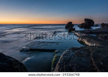 Sunrise from Sydney sea. - stock photo