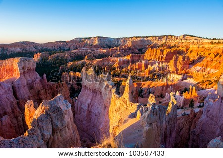 Sunrise in bryce canyon national park, utah, usa
