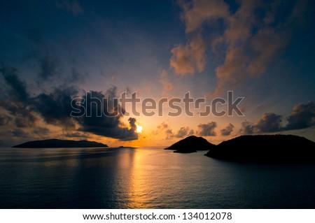 Sunrise in Condao island - stock photo